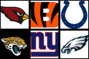Cardinals, Bengals, Colts, Jags, Giants, Eagles Bye Week