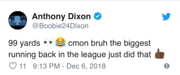 Anthony Dixon was in shock